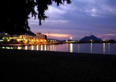 Sunset on Aegiali village