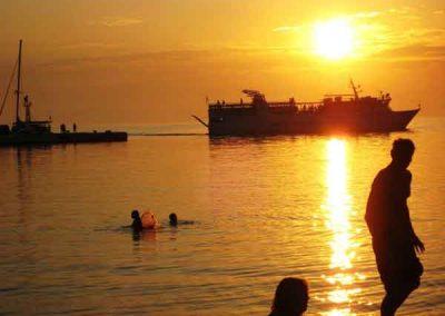 Sunset at Aegiali